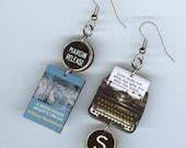 Book Earrings - A Midsummer Night's Dream Shakespeare - Typewriter key jewelry - English Literary gift - book club librarian teachers