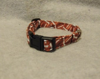 "X Small or Small Dog Cpllar 1/2"" Wide  Football or 4 Foot  Leash"