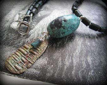 The Land of the Lost Turquoise and Bronze Necklace