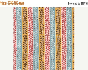 Summer Sale Denyse Schmidt Flea Market Fancy Legacy Collection Turquoise Seedpod Stripe cotton Fabric by the yard
