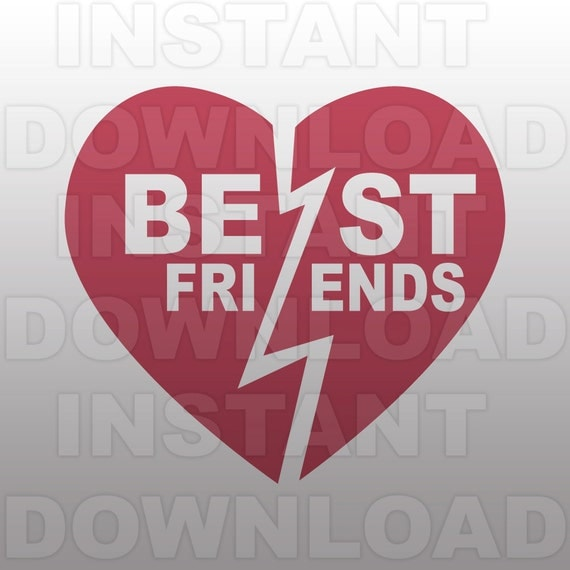 Best Friends Svg Filebff Heart Svg File Cutting