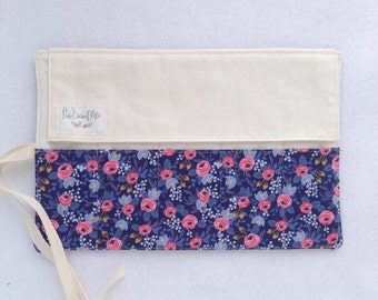 Shorty Pen Roll // Rosa in Blue by Rifle Paper Co