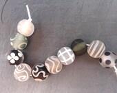 Shadow Softies- SRA handmade glass lampwork beads - Lori&Kim