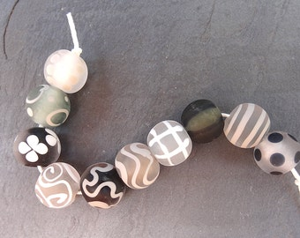 Shadow Softies- SRA handmade glass lampwork beads - Lori&Kim