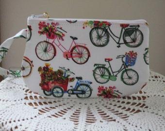 Cruiser Bicycles Clutch Zipper  Gadget Pouch Wristlet Smart Phone Bag