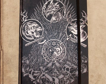 Game of Thrones Iron Throne Notebook Journal - 240 pages - sewn bound - 8.5 x 6 - split blank/lined pages