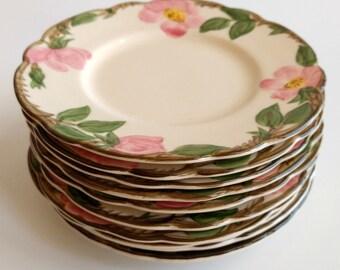 Franciscan Desert Rose Bread Butter Plates Set