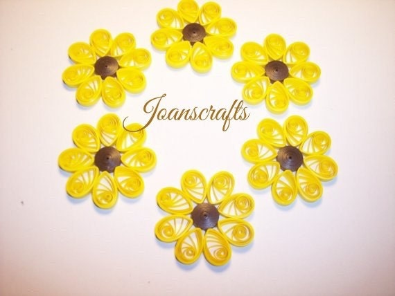 6 Quilled Flowers for Scrapbooking-PICK YOUR COLORS
