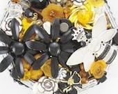 Half Off Sale Hand Mirror - Queen Bee - Repurposed Jewelry - M001062