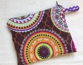 """Single Pocket Travel Size Wet Bag 7.5""""x 6"""" Perfect for Cloth Menstrual Pads"""