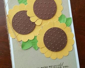 1- Sunflower Thank You Card