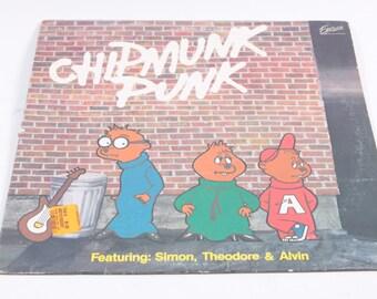 Chipmunk Punk Vinyl LP Record Alvin and the Chipmunks