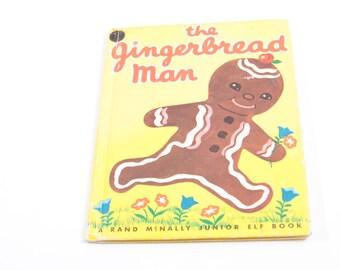 The Gingerbread Man - A Rand McNally Junior Elf Book - Vintage Children's Book