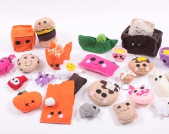 Sweet Felt Plush Happy Foods - Toaster Orange Chocolate Toys Fun ~ Pink Room ~ 160925