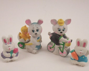 Vintage Easter Bunny 1960's Squeaky Toys + More 1960s