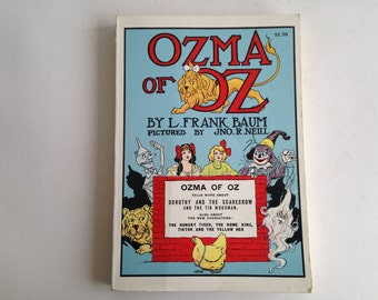 Ozma of Oz - Wizard of Oz 1954 Reprint Frank L Baum - Picture Book