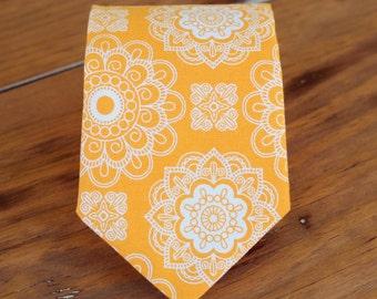 Mens orange necktie, men's orange wedding tie, mens orange tie, gift for dad, family photo tie, groomsmens neckties, grooms tie, traditional