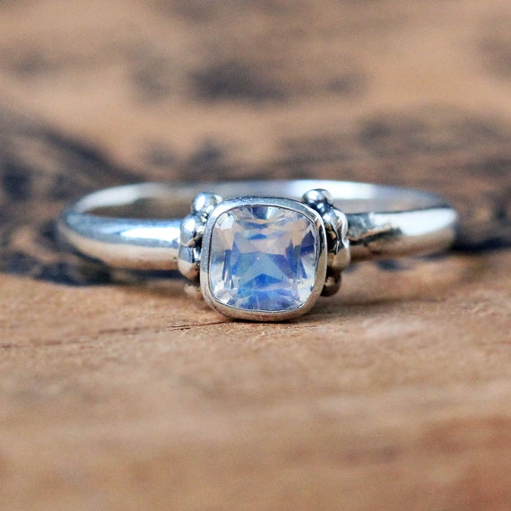 moonstone promise ring rainbow moonstone ring sterling