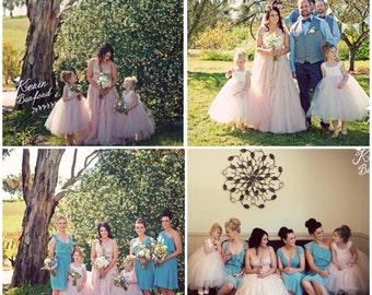 Blushing Pink Champagne Tutu Dress Flower Girl