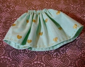 Blythe / DAL Skirt - Gold Hearts On Mint