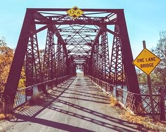 "industrial wall art, industrial decor, bridge, rustic art, farmhouse decor, farmhouse wall art, large art, large wall art -""One Lane Bridge"""