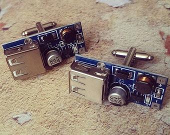 Geek Chic ....  USB Circuit Board Cufflinks