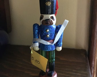 Christmas Ornament - Pug Wooden Toy Soldier