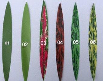 100 small silk ti leaves, cut for Tahitian costumes, ti leaf, Polynesian, for Polynesian costumes or crafts, head hei