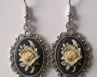Cameo - Creamy Rose Cameo Earrings