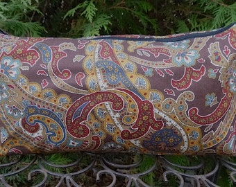 Paisley flat bottom bag, flat bottom pouch for Mah Jongg tiles, knitting notions pouch, Pretty Paisley, The Large Zini