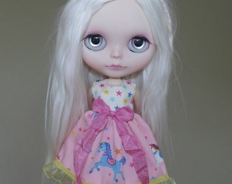 Magical Unicorn dress for Blythe, Pullip doll