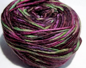 SALE ~ MALABRIGO worsted weight yarn in color #239 Saphire Magenta