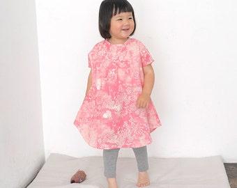 Nani Iro Japanese sewing pattern - Kids French sleeve dress
