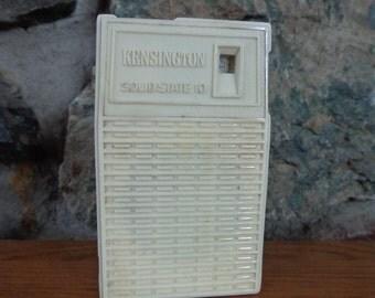 Vintage Retro Kensington Solid State 10 Transistor Radio Works Repurpose Altered Art