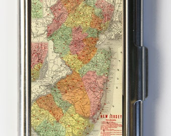 New Jersey NJ State map Business Card Holder Card Case