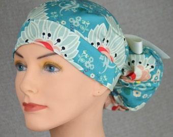 The Perfect Fit Ponytail Scrub Hat Original Design Best Fit Ever Pony Pouch- Lavish
