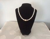 Pearl and Gold Necklace Bridal Wedding