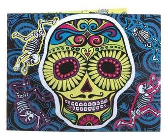 Sugar Skull Wallet, Sonic Wallet, Day of the Dead, Musical Wallet, Mexican Mariachi, Mexican Wallet, Tyvek Wallet, Skull Wallet, Kitsch
