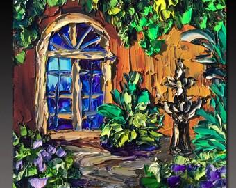 NEW ORLEANS Painting B. Sasik Original Oil  Painting  Palette Knife Painting