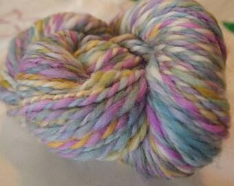 Handspun Wool Yarn CRYSTALLINE  Handdyed 119yds 3.5oz 6-7wpi aspenmoonarts art yarn knitting bulky weaving art yarn