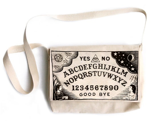 Cream Ouija Board Purse