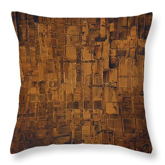 chocolate brown throw pillow & cover designer by ModernHouseArt