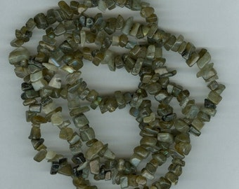 CLEARANCE Labradorite Chip Beads 34in C/D quality