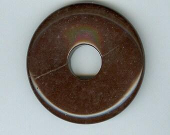 45mm Brown Jasper Gemstone PI Donut Pendant Focal Bead Doughnut 1339