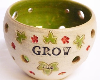 Grow one off Green t light planter holder.