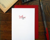 letterpress smart ass greeting card dumb ass with proofreading symbols smart ass congrats you've graduated black & red ink on white paper
