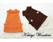 Crochet Pattern - School Girl Chicken Sweater - Crocheted Chicken Saddle