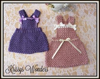 Crochet Jumper Pattern - Baby Dress Pattern - Lil Bo Peep - Vintage Inspired - Free Crochet Pattern if u buy 2 - KrissysWonders