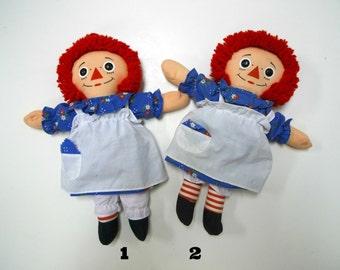 1987 Raggedy Ann . stuffed doll . by Playskool Inc.