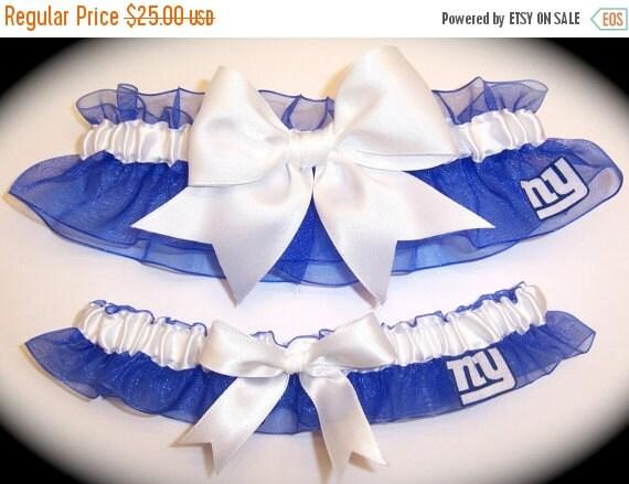 FALL SALE Handmade Wedding Garter Set  New York Giants l  NY Keepsake Toss rww 0
